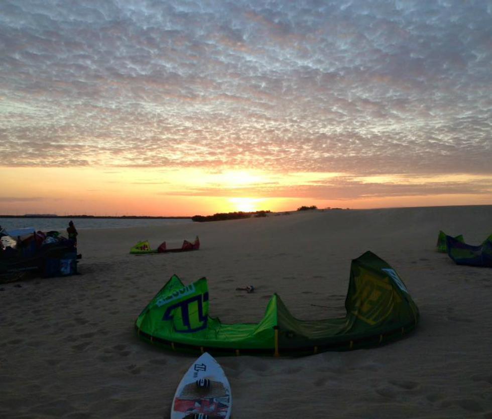 Kitesurfing in Galinhos